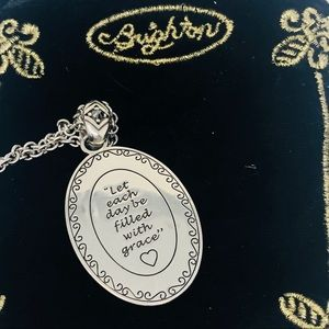 Brighton Jewelry - NEW BRIGHTON Devotion Amulet Necklace & Velvet Bag